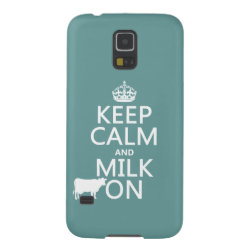 Case-Mate Barely There Samsung Galaxy S5 Case with Keep Calm and Milk On design