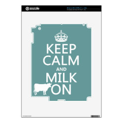 Amazon Kindle DX Skin with Keep Calm and Milk On design