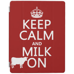 iPad 2/3/4 Cover with Keep Calm and Milk On design