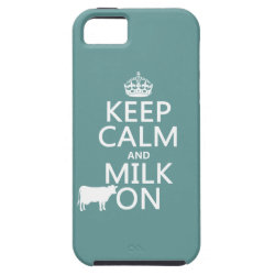 Case-Mate Vibe iPhone 5 Case with Keep Calm and Milk On design