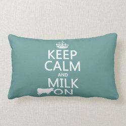Throw Pillow Lumbar 13' x 21' with Keep Calm and Milk On design