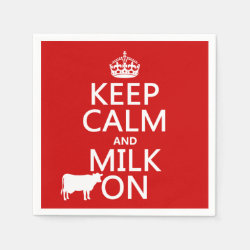 Paper Napkins with Keep Calm and Milk On design