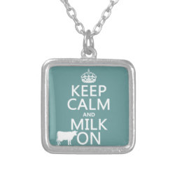 Small Necklace with Keep Calm and Milk On design