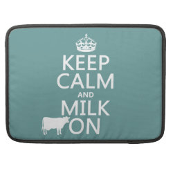 Macbook Pro 15' Flap Sleeve with Keep Calm and Milk On design