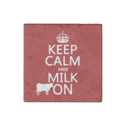 Marble Magnet with Keep Calm and Milk On design