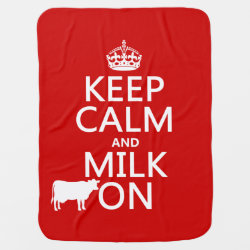 Baby Blanket with Keep Calm and Milk On design
