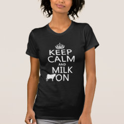Women's American Apparel Fine Jersey Short Sleeve T-Shirt with Keep Calm and Milk On design