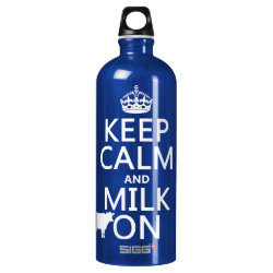 SIGG Traveller Water Bottle (0.6L) with Keep Calm and Milk On design