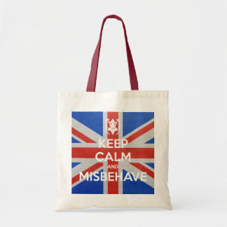 Keep Calm and Misbehave Budget Tote Bag