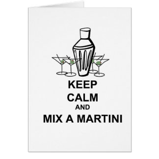 Keep Calm and Mix a Martini - Card