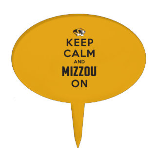 Keep Calm and Mizzou on - Black Cake Toppers