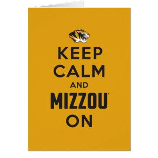Keep Calm and Mizzou on - Black Card