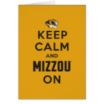Keep Calm and Mizzou on - Black Greeting Card