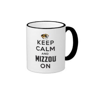 Keep Calm and Mizzou on - Black Mugs