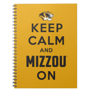 Keep Calm and Mizzou on - Black Notebooks