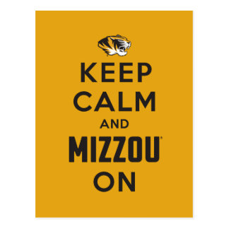 Keep Calm and Mizzou on - Black Post Cards