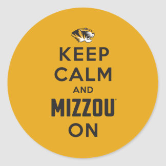 Keep Calm and Mizzou on Classic Round Sticker