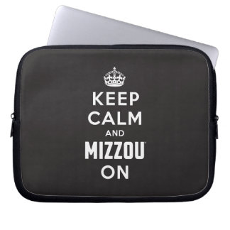 Keep Calm and Mizzou on Computer Sleeve