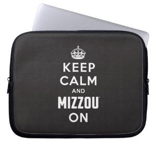 Keep Calm and Mizzou on Computer Sleeve