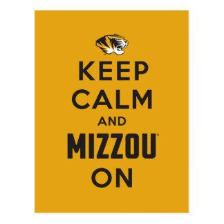 Keep Calm and Mizzou on Postcard