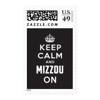 Keep Calm and Mizzou on - White Stamps