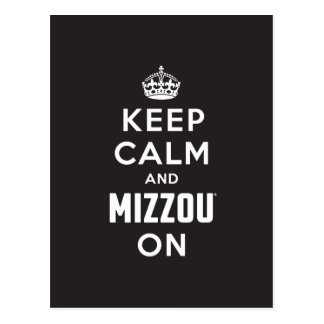 Keep Calm and Mizzou on - White Post Cards