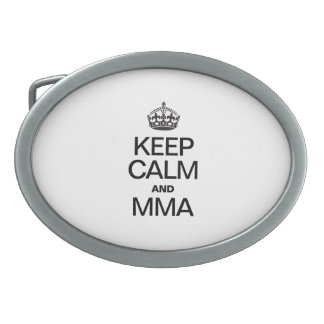 KEEP CALM AND MMA OVAL BELT BUCKLES