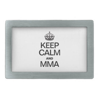 KEEP CALM AND MMA BELT BUCKLE