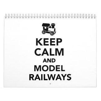 Keep calm and model railways calendar