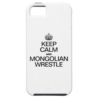 KEEP CALM AND MONGOLIAN WRESTLE iPhone SE/5/5s CASE