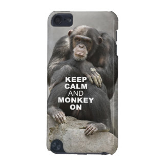 Keep Calm and Monkey On iPod Touch Case