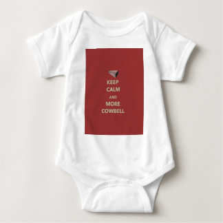 KEEP CALM AND MORE COWBELL BABY BODYSUIT