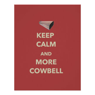 KEEP CALM AND MORE COWBELL LETTERHEAD