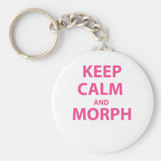 Keep Calm and Morph Basic Round Button Keychain