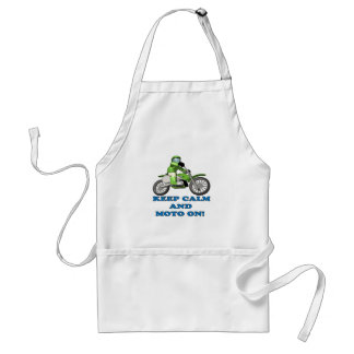 Keep Calm And Moto On Adult Apron