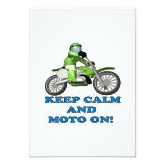 Keep Calm And Moto On Card