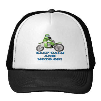 Keep Calm And Moto On Trucker Hat