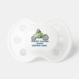 Keep Calm And Moto On Pacifier