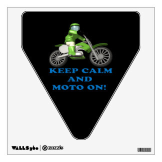 Keep Calm And Moto On Wall Sticker