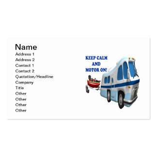 Keep Calm And Motor On 2 Business Card