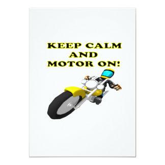 Keep Calm And Motor On Card