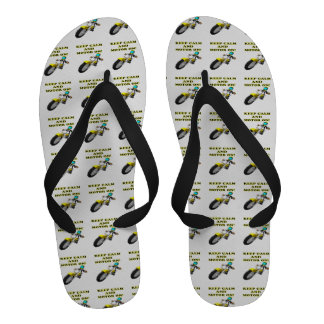 Keep Calm And Motor On Flip-Flops