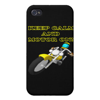Keep Calm And Motor On iPhone 4/4S Covers