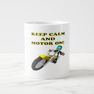 Keep Calm And Motor On Large Coffee Mug