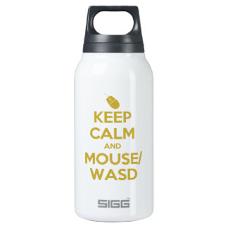 Keep Calm and Mouse WASD 10 Oz Insulated SIGG Thermos Water Bottle