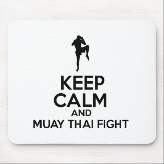 Keep Calm And Muay Thai Fight Mouse Pad