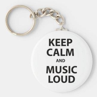 Keep Calm and Music Loud Keychain