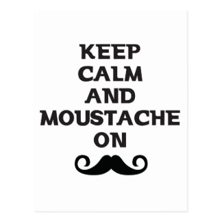 Keep Calm and Mustache On Postcard