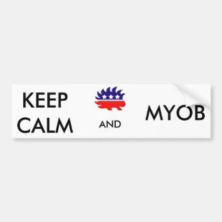 Keep Calm and MYOB Bumper Sticker