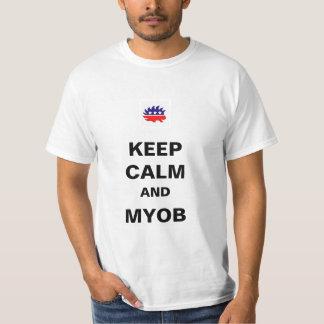 Keep Calm and MYOB Bumper Sticker Tshirt